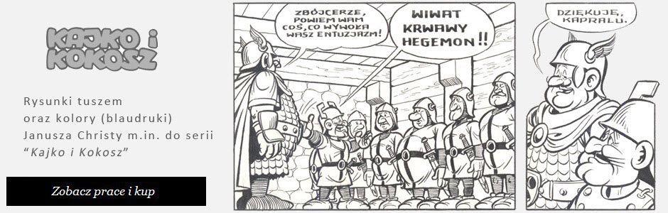 Kajko i Kokosz - oryginalne plansze komiksowe.