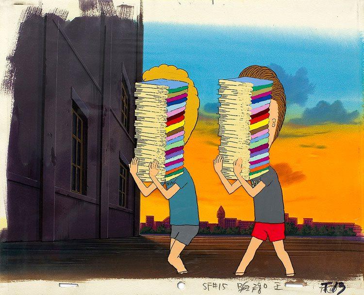 Beavis & Butt-head - animation art.