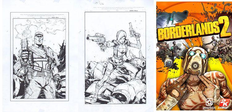Borderlands - okładki komiksowe i gra.