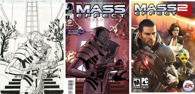 Mass Effect - oryginalna okładka.
