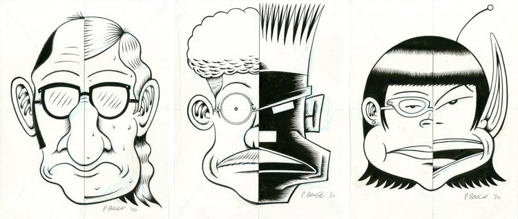 Peter Bagge, Other Lives - rysunki.