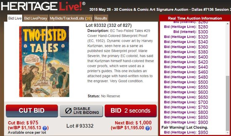 Heritage Auctions: comics, color guide.