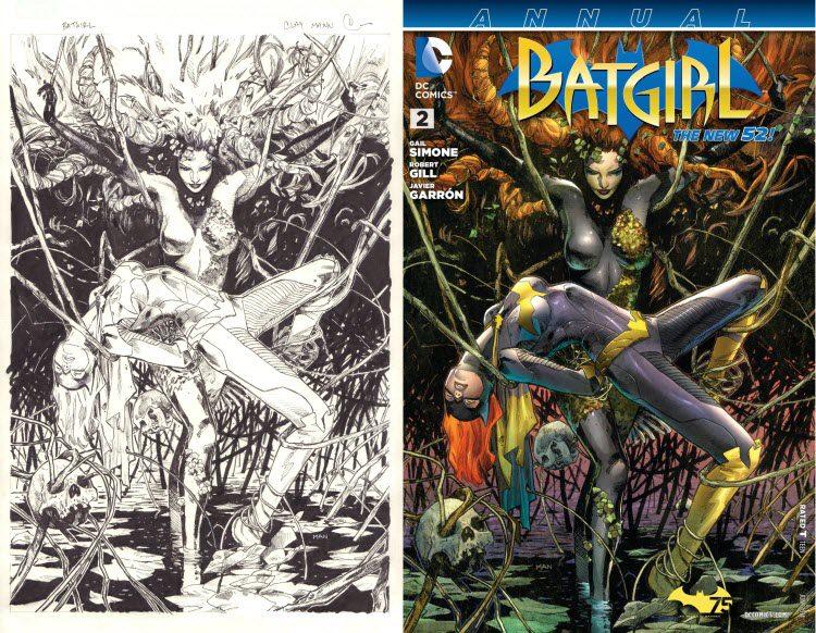 Clay Mann, Batgirl. Annual #2 - original cover art.