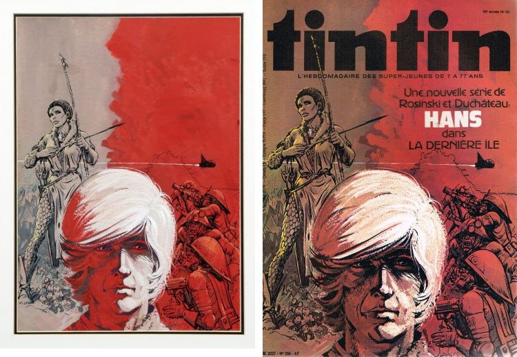 Grzegorz Rosinski, Tintin, Yans.