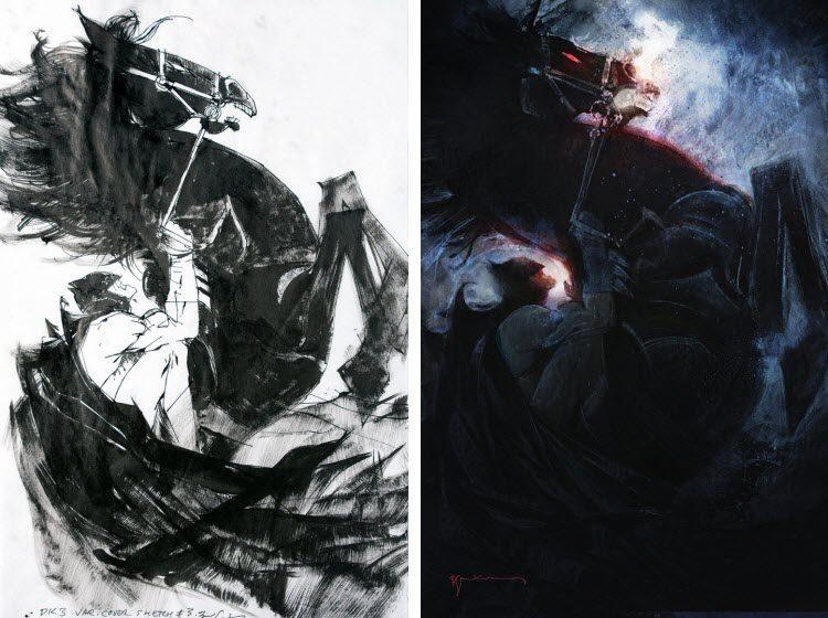 Bill Sienkiewicz, Dark Knight III cover.