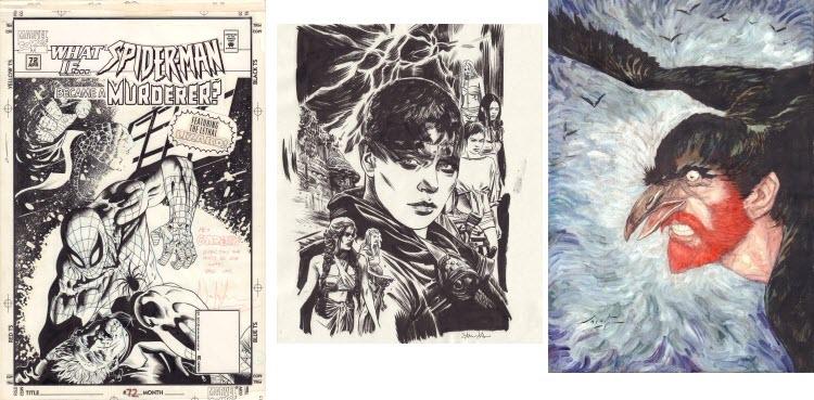 Comic Art covers: Spider-man, Mad Max Furiosa, Smudja Vincent.