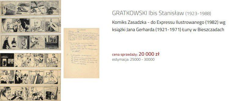 Paski komiksowe Gratkowskiego.