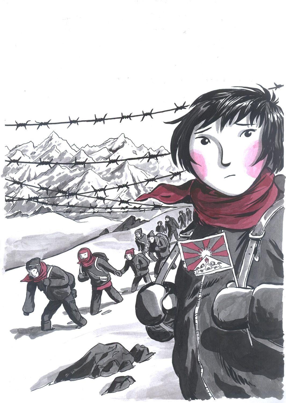 Tybet: historie prawdziwe - okładka (tusz + kolor)
