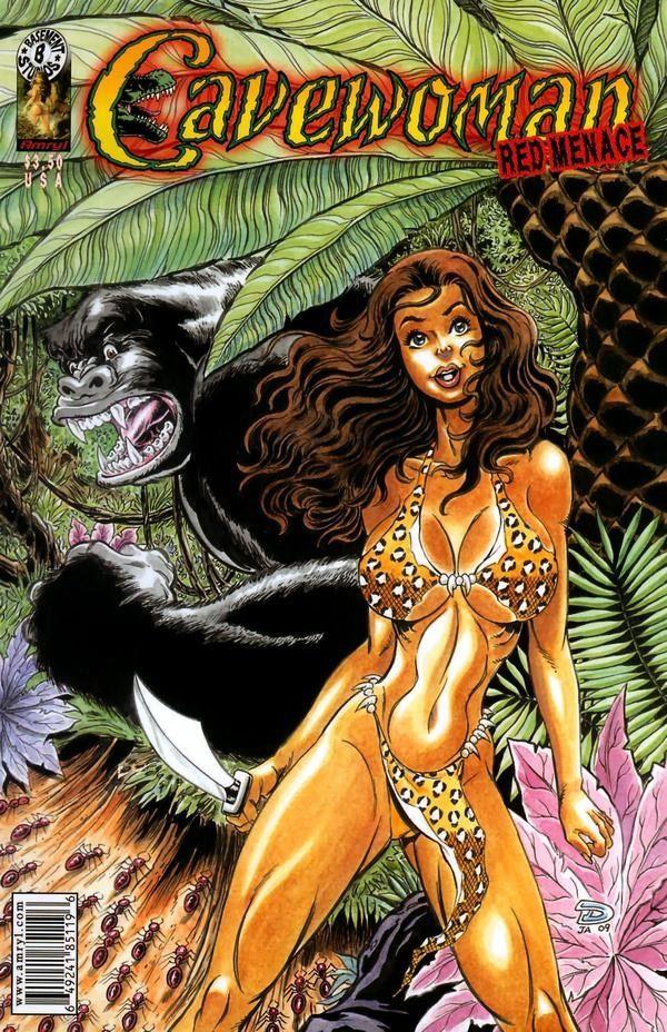 Cavewoman: Red Menace 17 czarno-biały