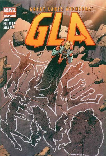 Great Lake Avengers (G.L.A.) #4 / 10 czarno-biały