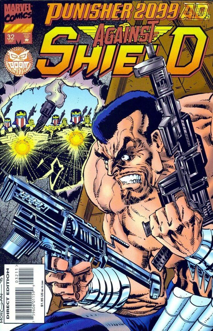 Punisher 2099 czarno-biały