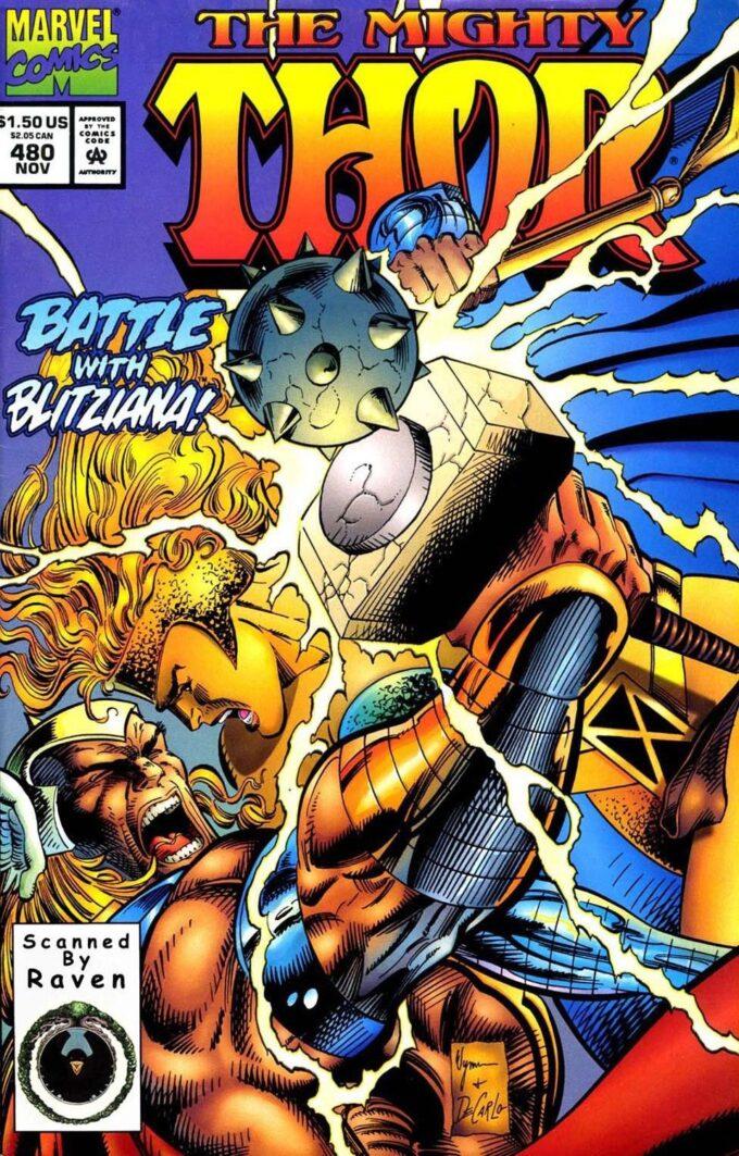 Mighty Thor #480 / 15 czarno-biały