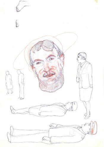 Głowa z brodą