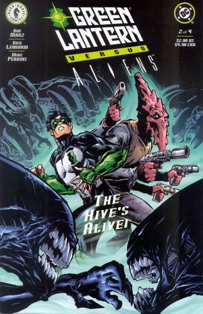 Green Lantern vs Aliens #2 / 8-9 czarno-biały