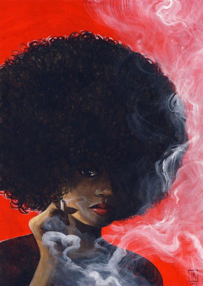 Kobieta z dymkiem