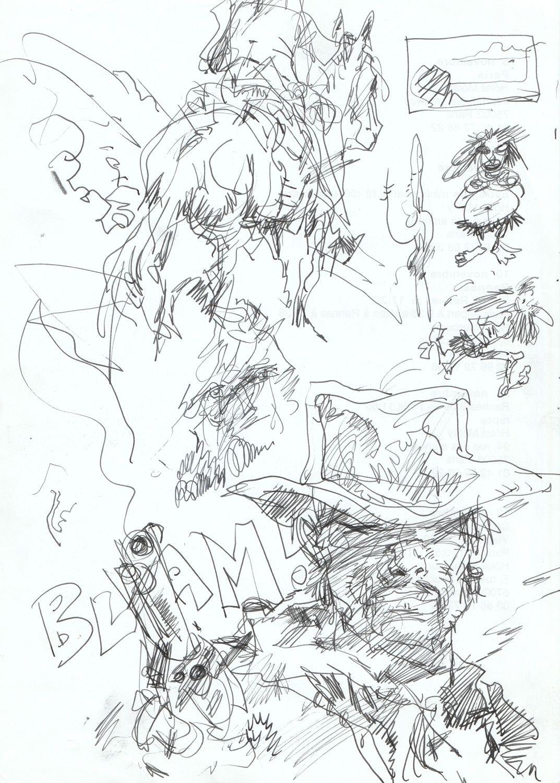 Western, szkic 1