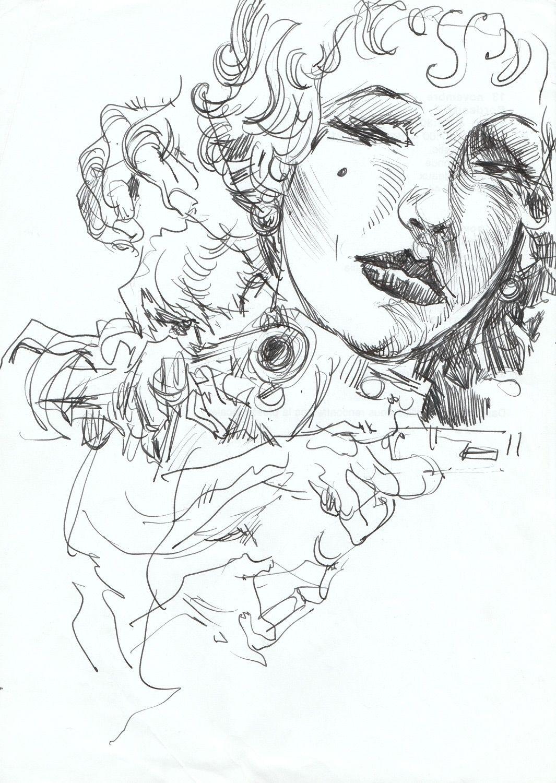 Western, szkic 2