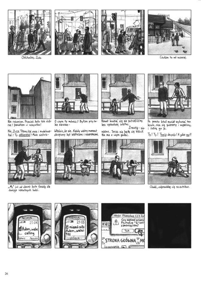 Zapętlenie 26 czarno-biały