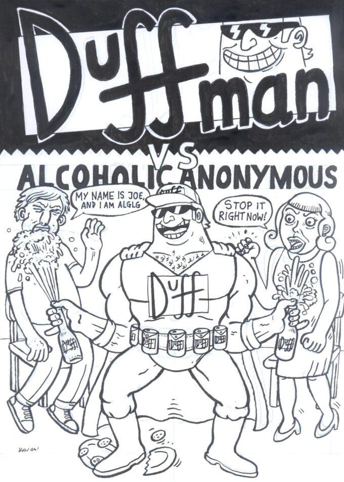 Duffman pin-up
