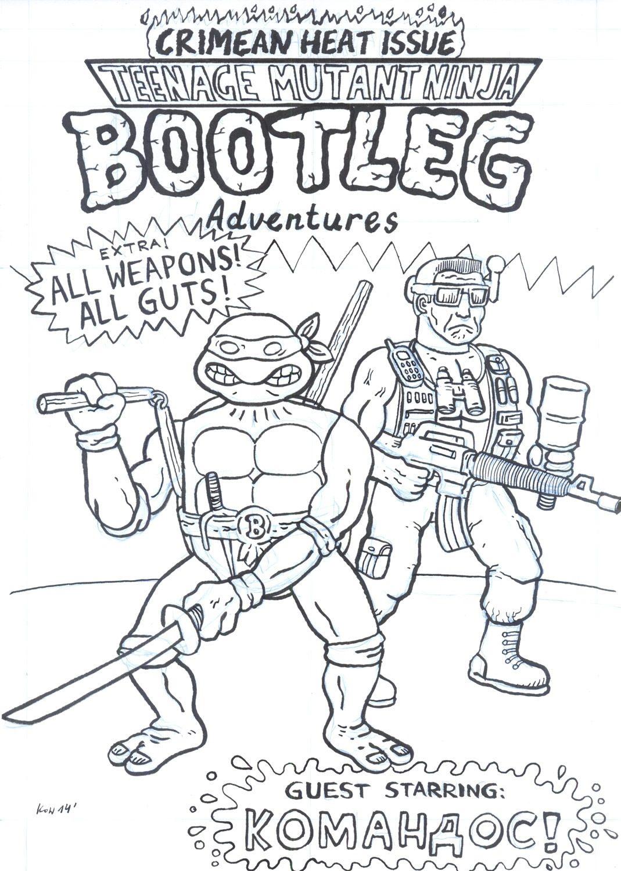 Teenage Mutant Ninja Bootleg pin-up