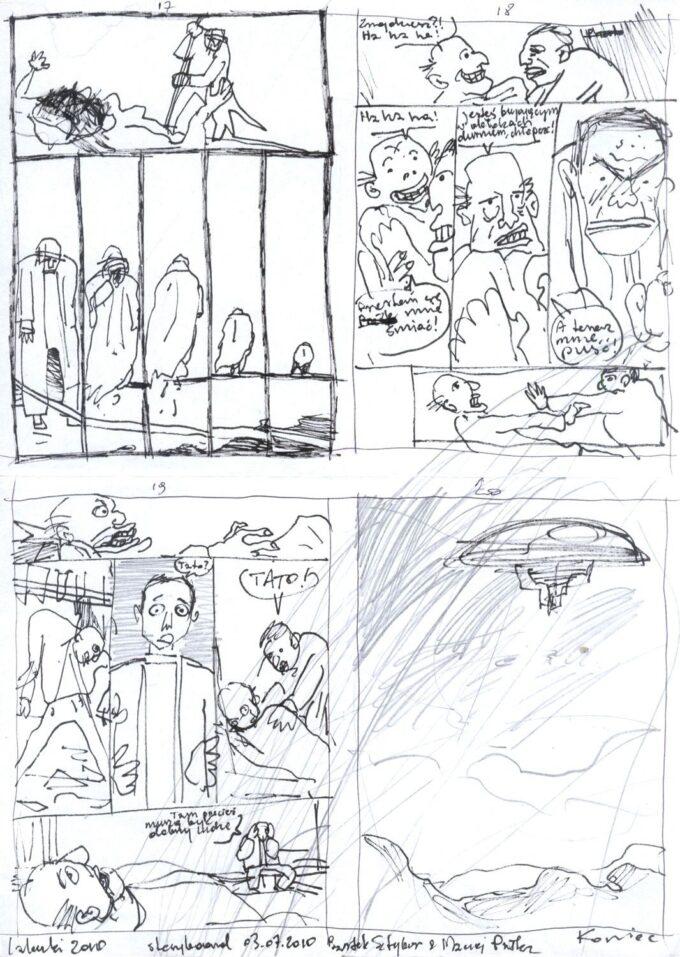 storyboard (komplet) czarno-biały