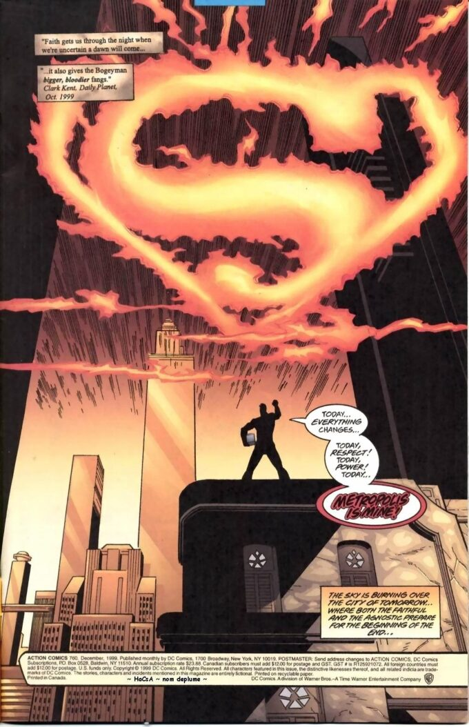 Action Comics #760 / 1 czarno-biały