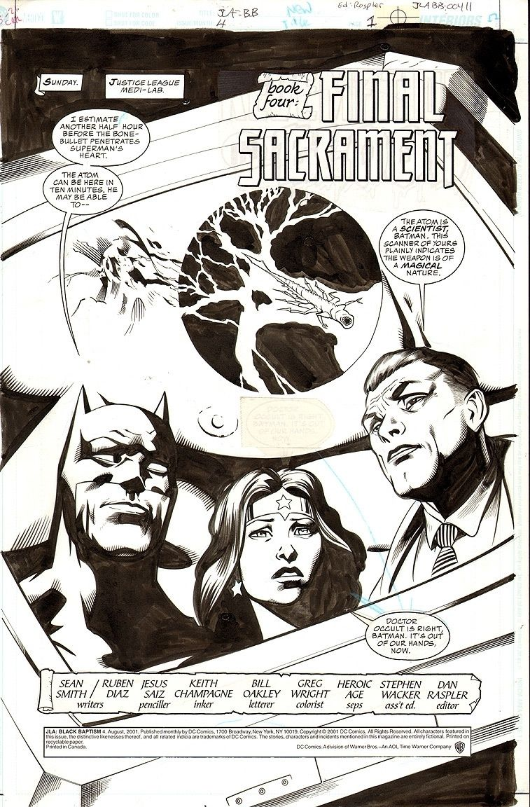 JLA: Black Batism #4: Final Sacrement, s. 1