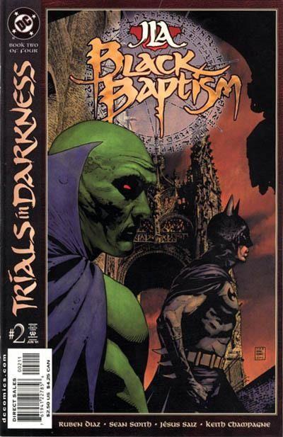JLA: Black Batism vol 1 #2 - okładka czarno-biały