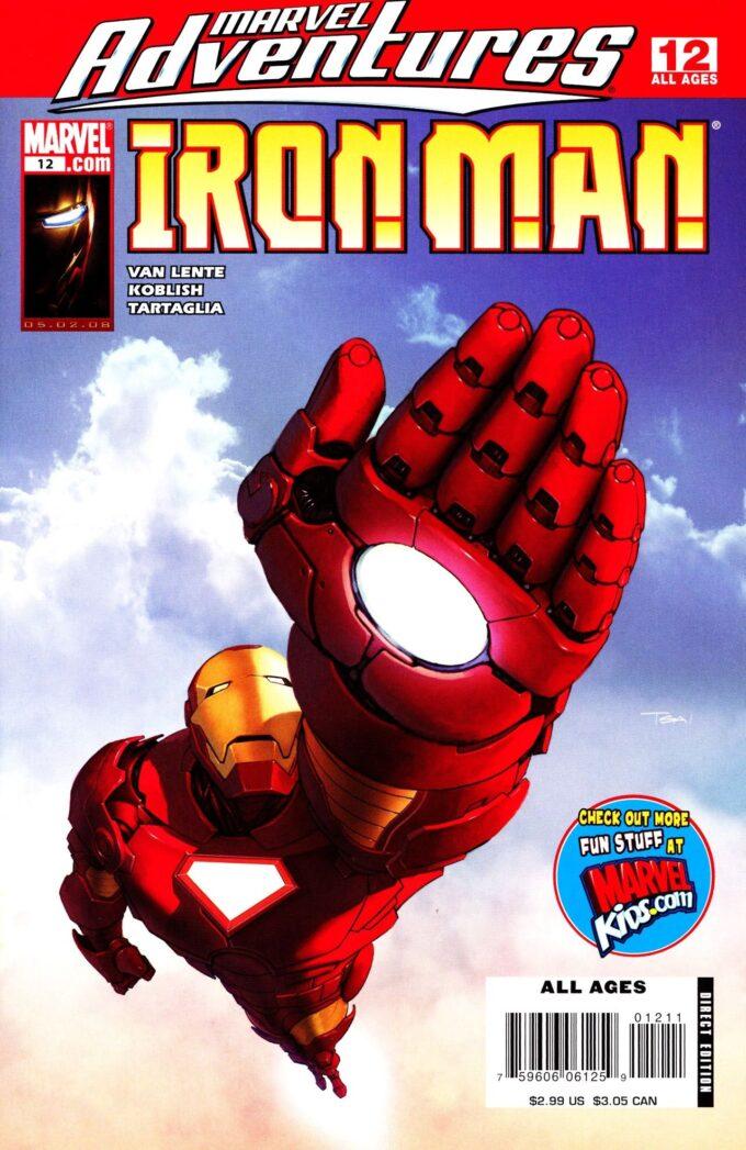 Marvel Adventures: Iron Man vol 1 #12/8 czarno-biały