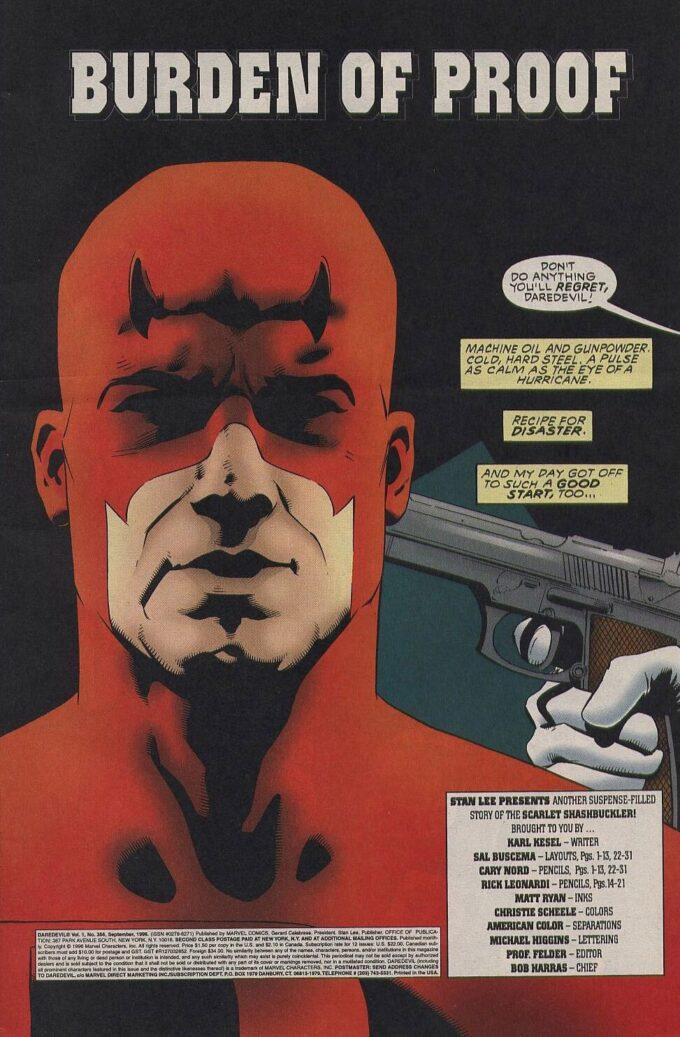 Daredevil #356 / 1 czarno-biały