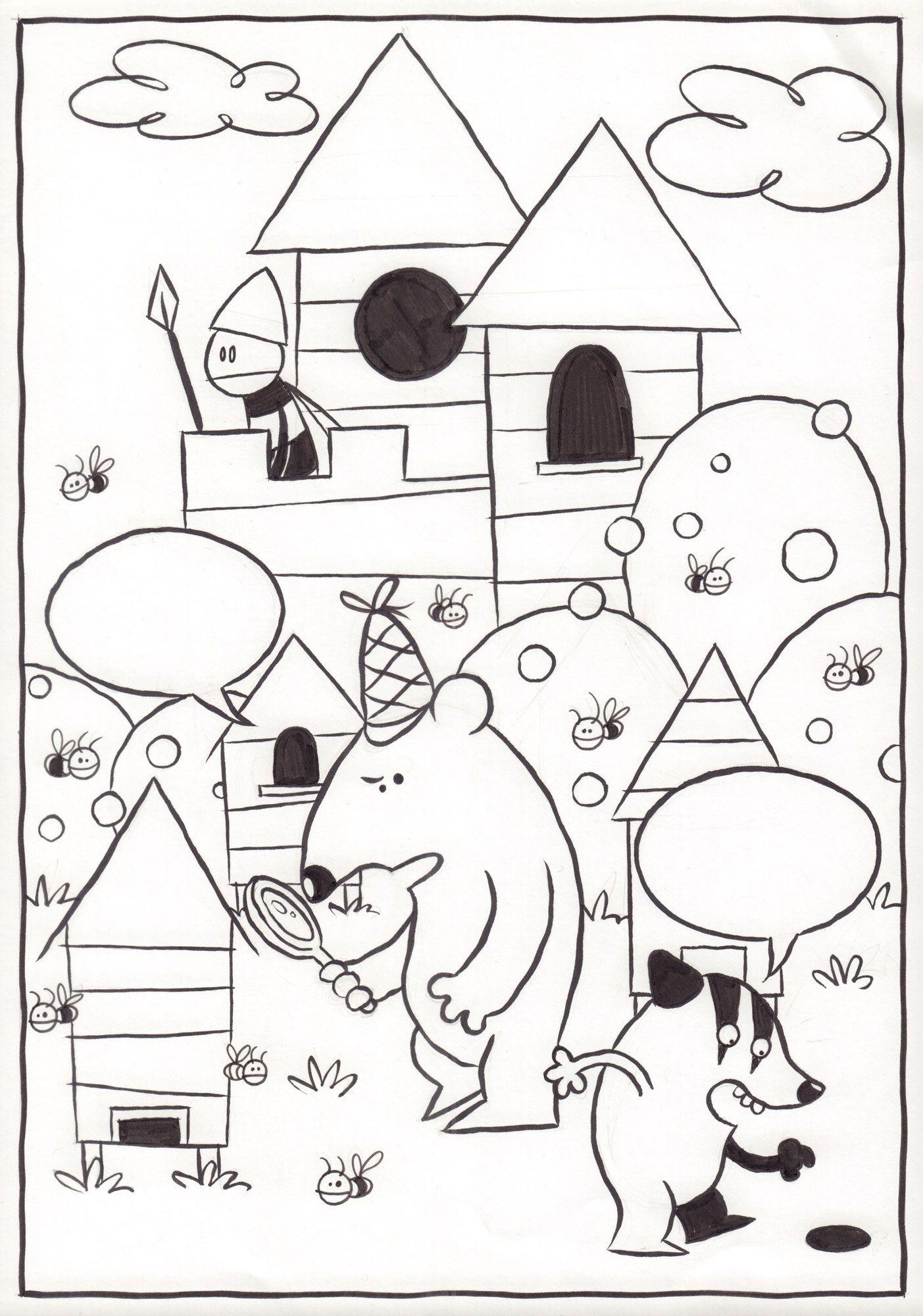 Detektyw Miś Zbyś na tropie. Lis, ule i miodowe kule, s. 6