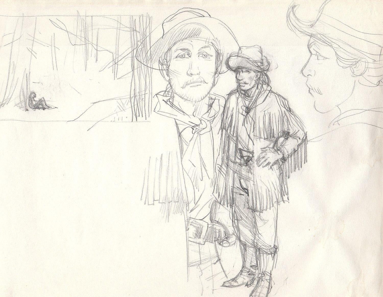 Western, szkic 4
