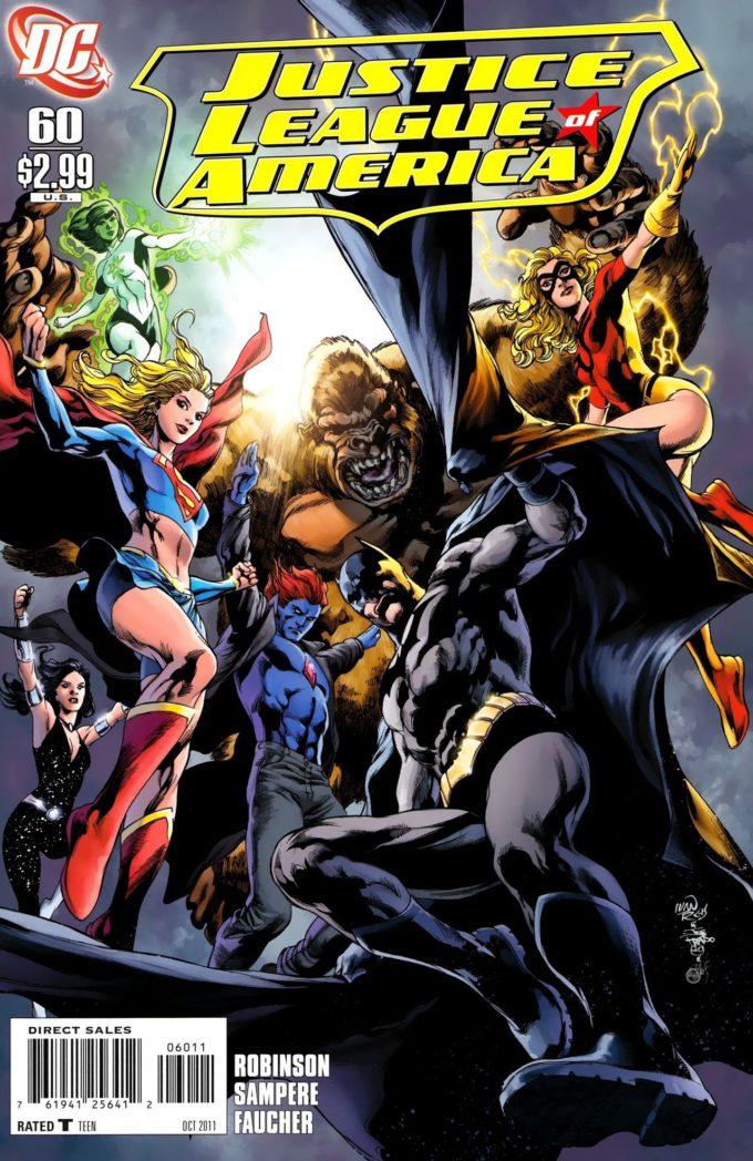 Justice League of America #60 / 16 czarno-biały