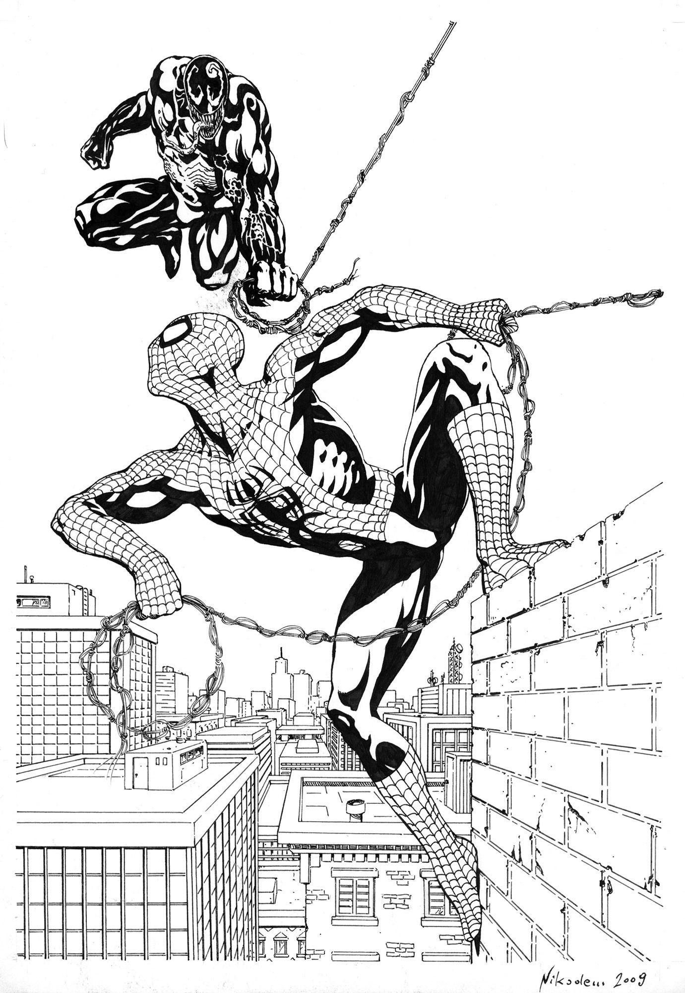 Spider-man vs Venom - fanart