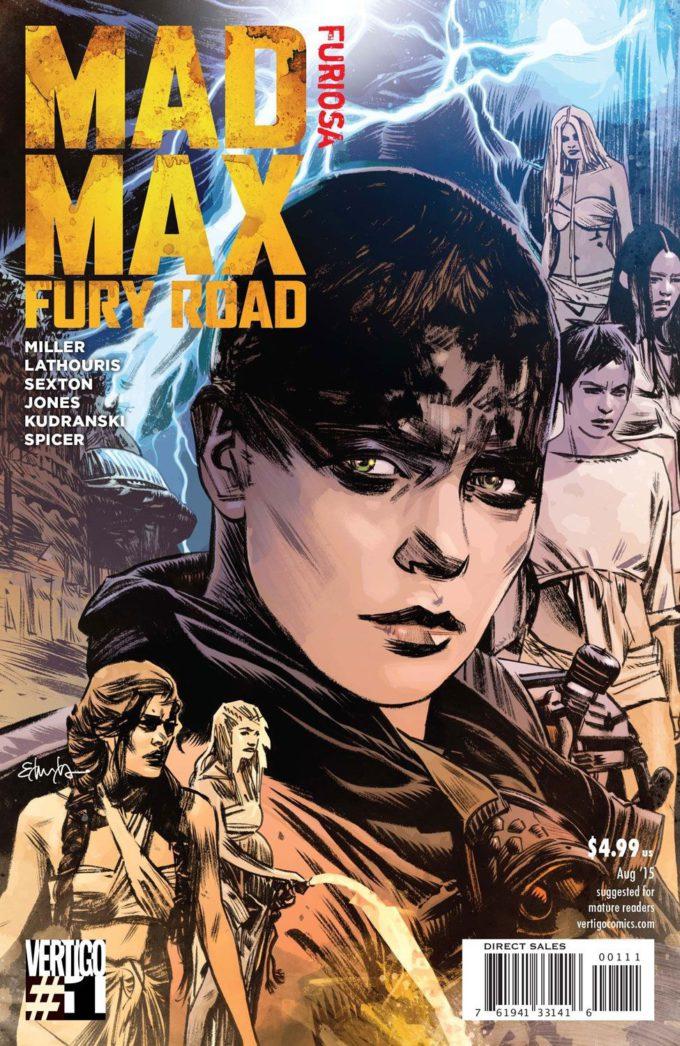 Mad Max: Fury Road: Furiosa #1 - okładka czarno-biały