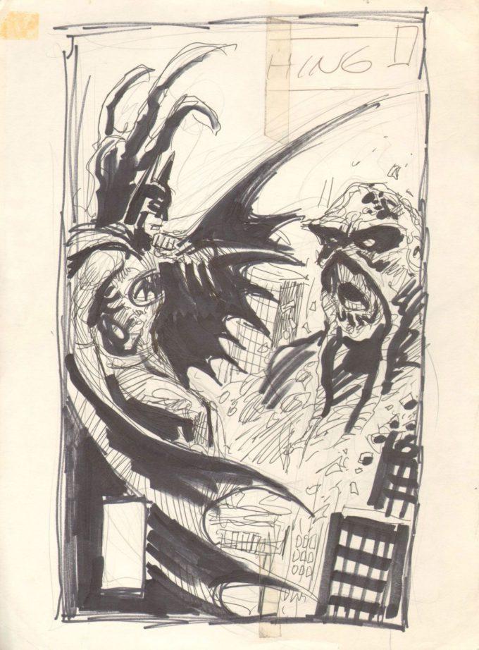 Swamp Thing #53 - szkic okładki