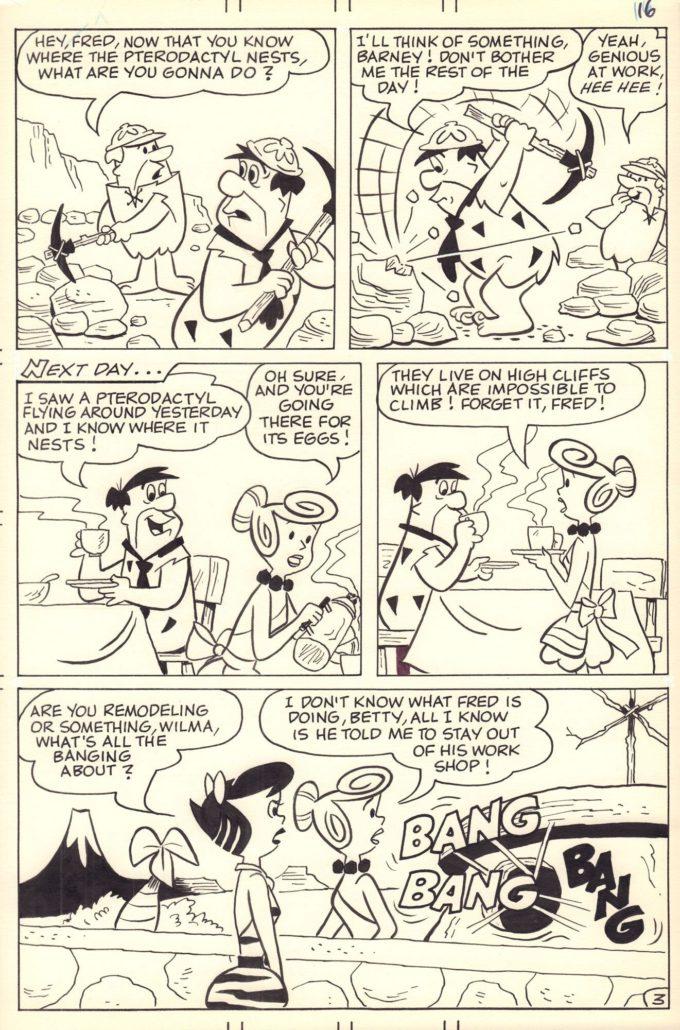 The Flintstones: Egg Head! - komplet 5 plansz czarno-biały