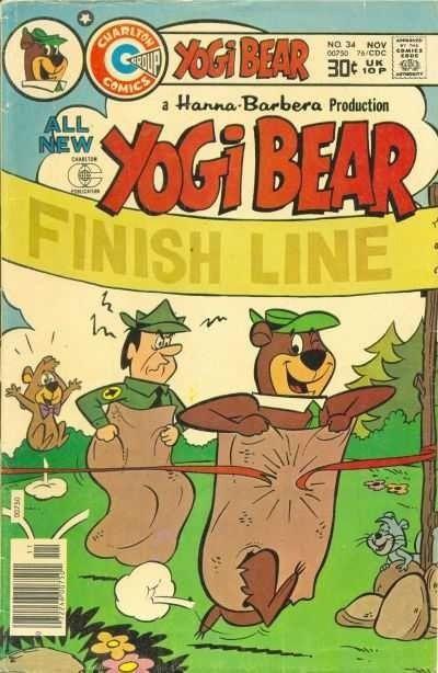 Yogi Bear #34 Brain Washed! - komplet 4 plansz Hanna-Barbera
