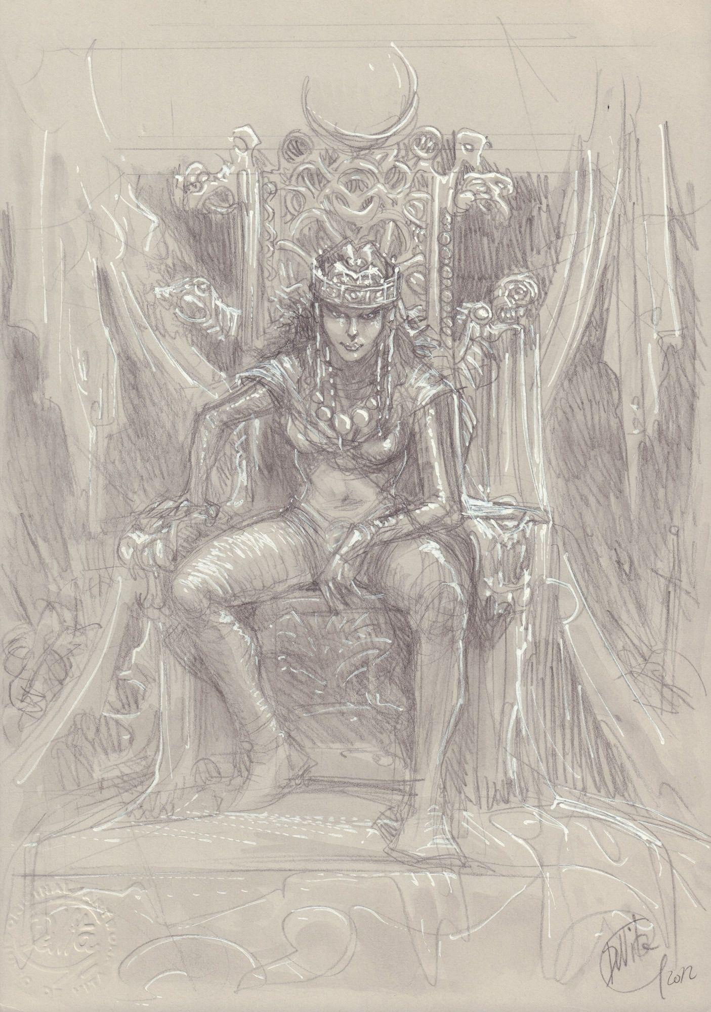 Thorgal. Kriss de Valnor #3, Czyn godny królowej - szkic okładki
