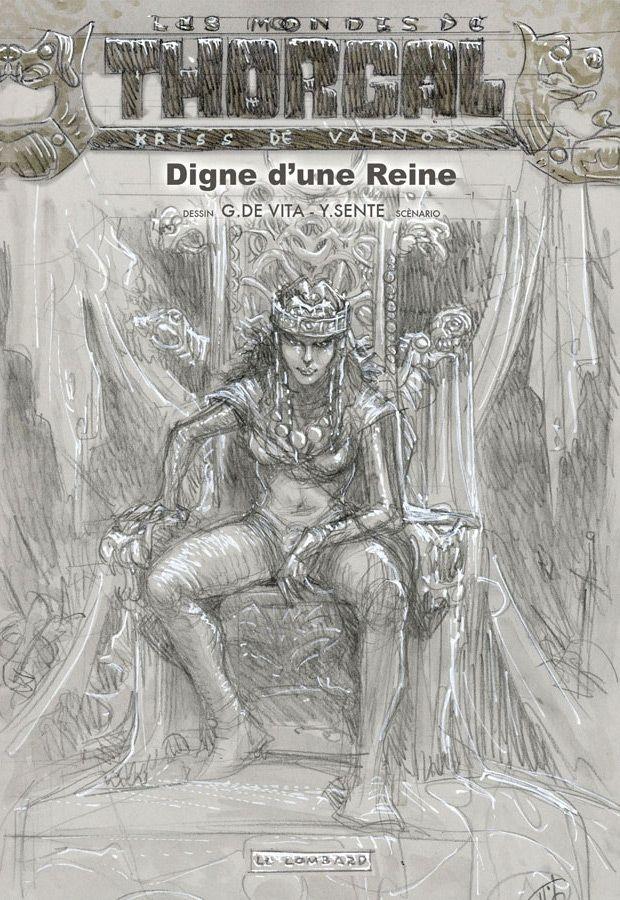 Czyn godny królowej - szkic okładki