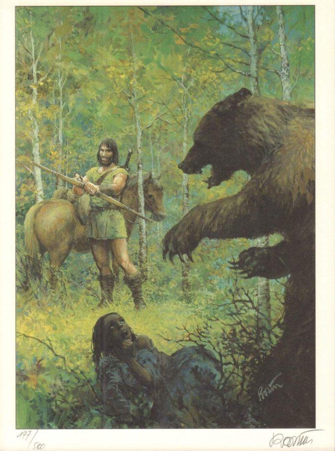 Thorgal Ours - numerowana i sygnowana serigrafia