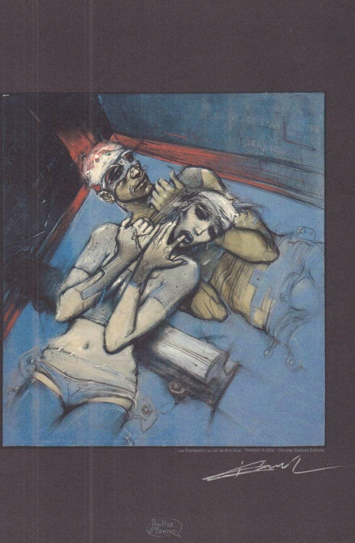 Les Clandestins du rail - sygnowana serigrafia
