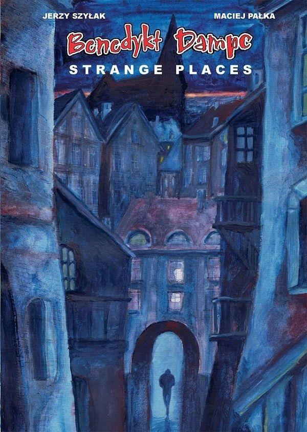 Benedykt Dampc. Strange Places - ilustracja promocyjna czarno-biały