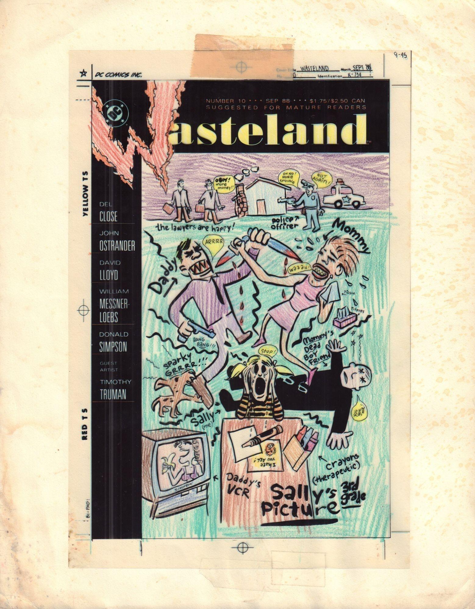 Wasteland #10 - okładka, kolor i diapozytyw