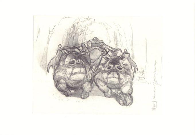 Czarodzieje - szkic ołówkiem