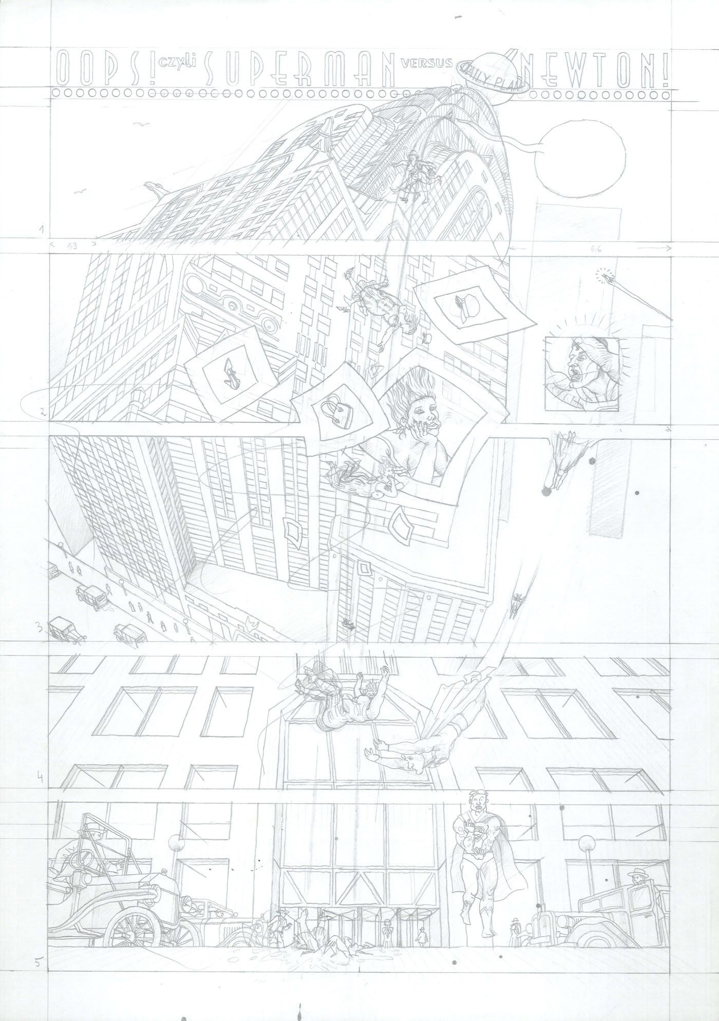 Oops! czyli Superman vs Newton (szkic)