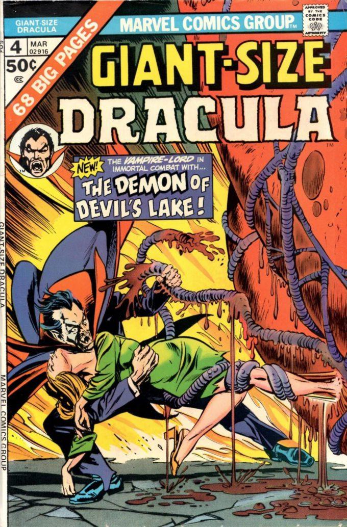 Giant-Size Dracula #4 / 1 czarno-biały