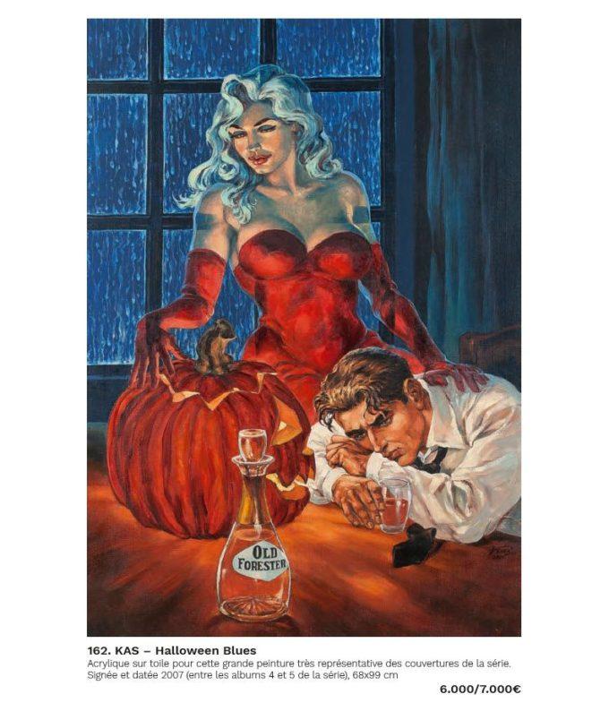 Halloween Blues #7 - szkic okładki B czarno-biały