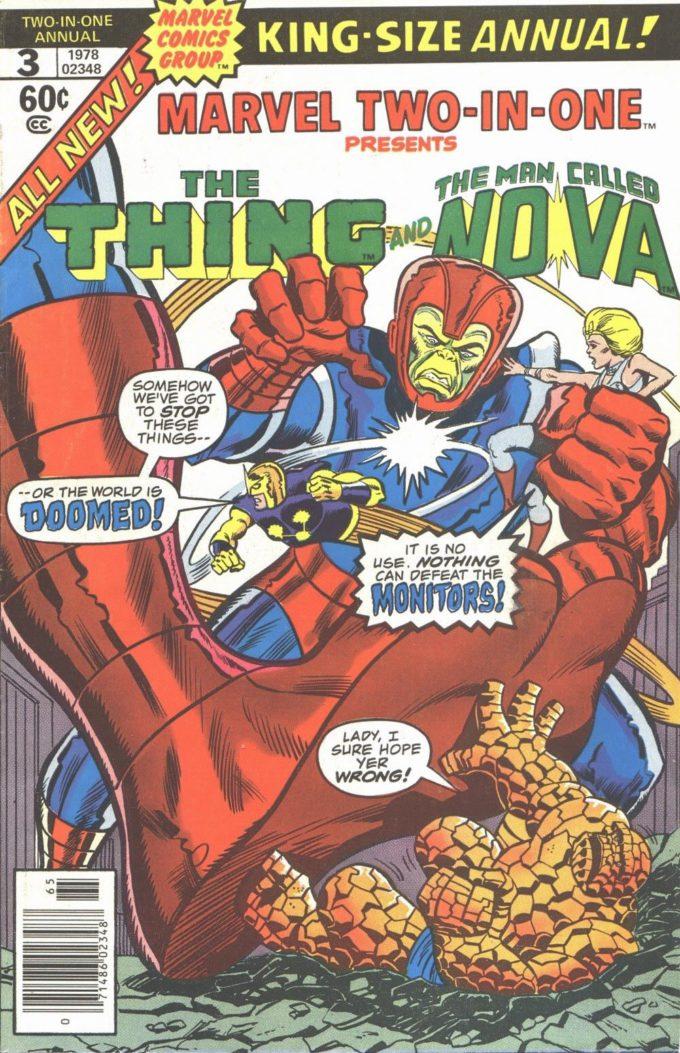 Marvel Two-in-One. Annual #3 / 28 czarno-biały