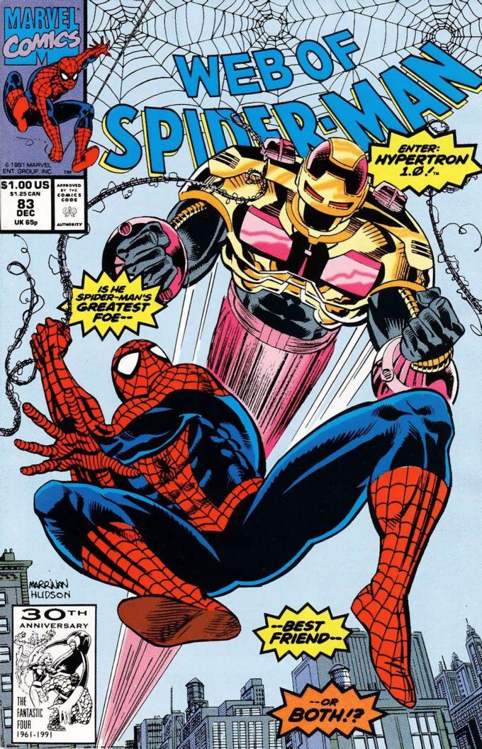 Web of Spider-Man #83 / 1 czarno-biały
